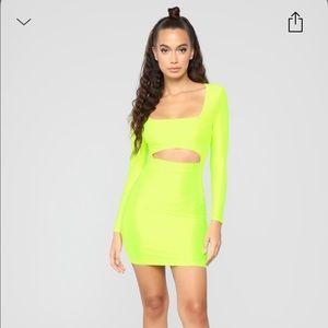 neon fashion nova dress